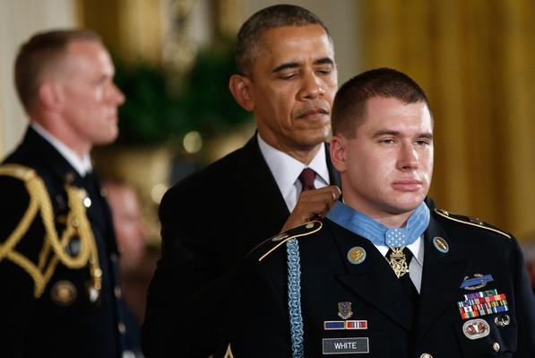 Obama Awards Medal of Honor to Afghan War Soldier Who Stood by His Team under Ambush