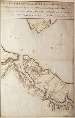 British map of the Siege of Yorktown, 1781
