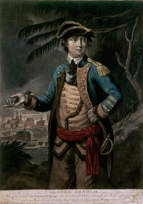 Colonel Benedict Arnold, pub. London, 1776