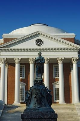 Rotunda at the University of Virginia designed by Thomas Jefferson | Famous American Architecture