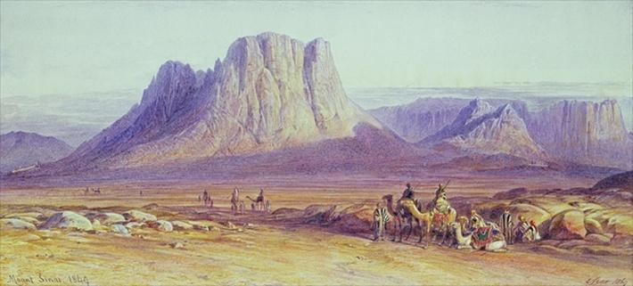The Camel Train, Condessi, Mount Sinai, 1848