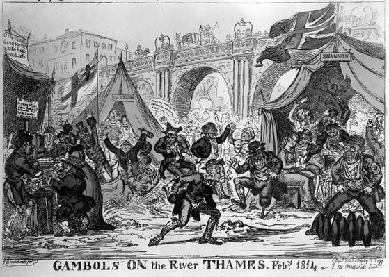 Gambols on the River Thames, 1814