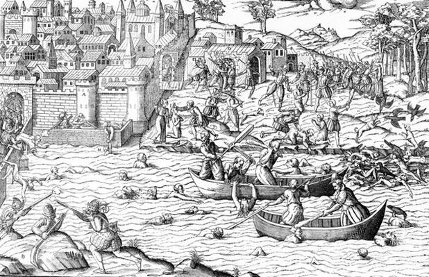 The Massacre of Tours, from 'Les Guerres de Religion', 1570