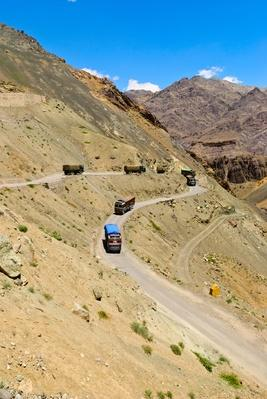 Trucks on High Mountain Pass. Ladakh, India | Earth's Surface