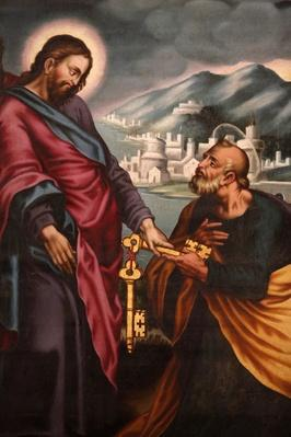 Jesus giving keys to St. Peter | World Relgions: Christianity