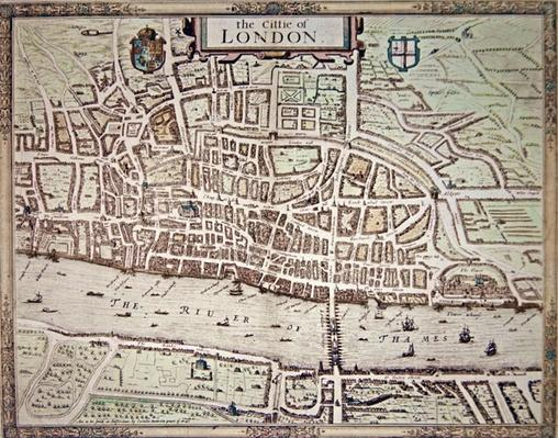 Map of 'the Cittie of London', 1633