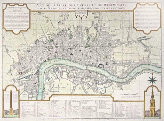 Plan of the Towns of London and Westminster, 1727