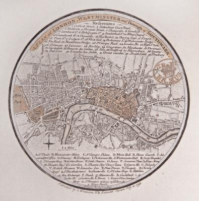 A Plan of London, Westminster and Borough of Southwark, 1793