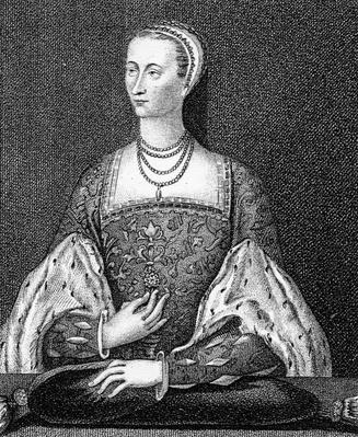 Mary of Guise, illustration from 'Iconographia Scotia, or Portraits of Illustrious Persons of Scotland' by John Pinkerton, 1794