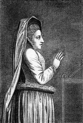 Lady Douglas, from her Monument in the Savoy Chapel, print made 1796