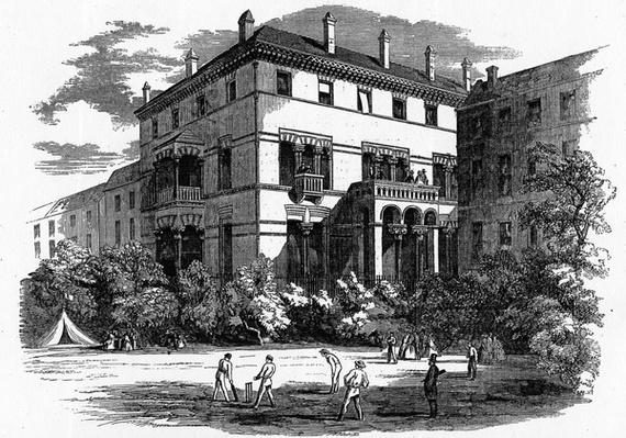 The Kildare Street Club, illustration from 'The Illustrated London News', 1861