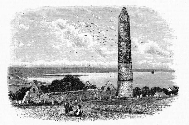 Round Tower and Ruins of St Declan's Church at Ardmore, c.1888
