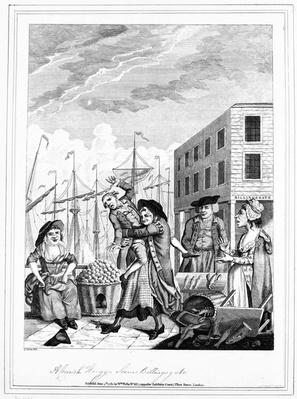A Cornish Hug in Billingsgate, 1781