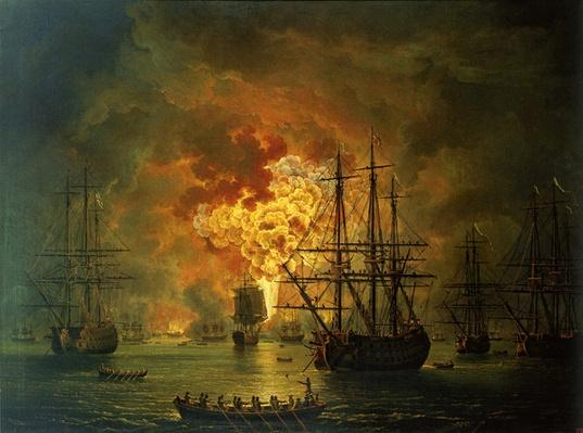 The Destruction of the Turkish Fleet at the Bay of Chesma, 1772