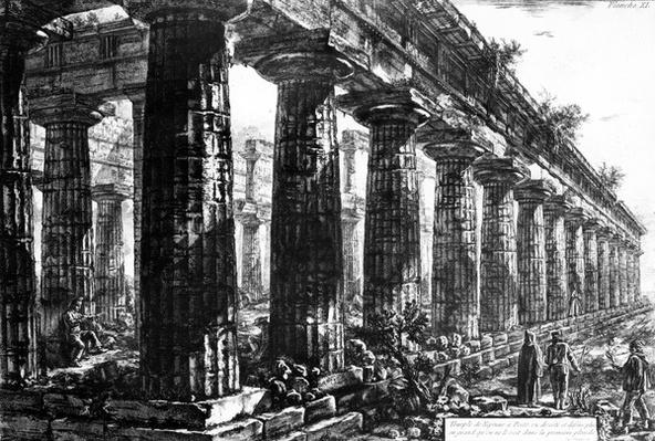 The Temple of Neptune at Paestum, etched by Francesco Piranesi, 1778
