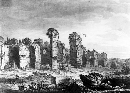View of the Remains of Caracalla's Baths, taken from the Jesuit's Garden, Rome, c.1778