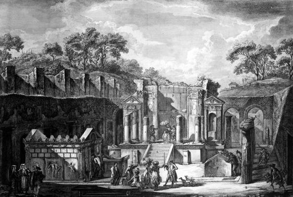 View of the Temple of Isis, Pompeii, engraved by Francesco Piranesi, 1788