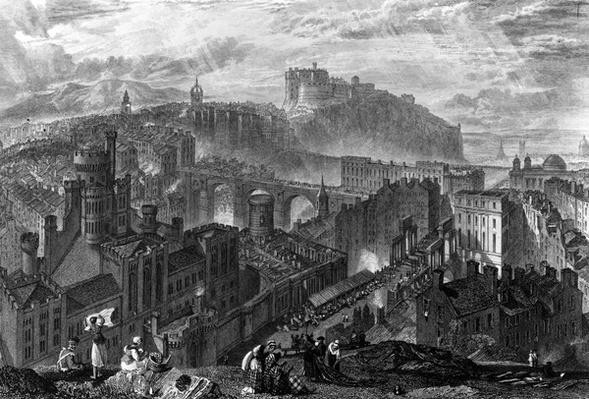 Edinburgh from the Calton Hill, engraved by George Cooke, 1820