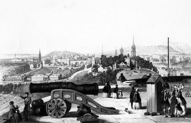 Edinburgh from the Castle, engraved by Thomas Brown