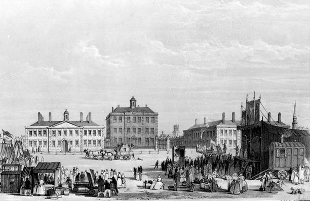 Old Liverpool Infirmary and Alms-Houses, with John Cooke's circus in the foreground, c.1826