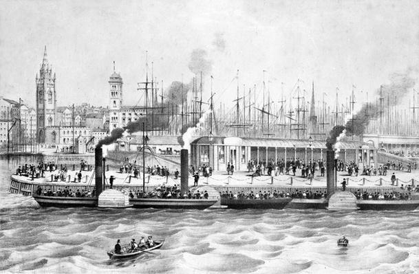 George's Landing Stage, Pier Head, Liverpool, c.1855