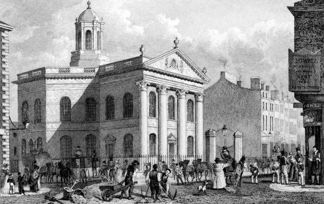 Unitarian Chapel, Paradise Street, Liverpool, engraved by J. Smith