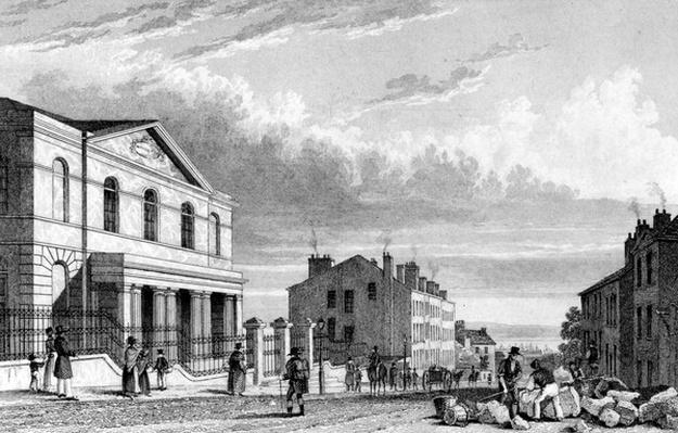 Wesleyan Chapel, Stanhope Street, Liverpool, engraved by J. Smith