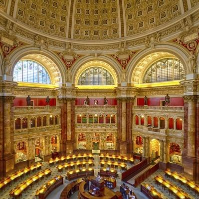 Main reading room of Library of Congress, Washington DC, USA | Monuments and Buildings
