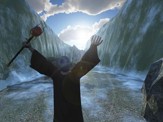 Moses parting the Red Sea | World Religions: Judaism