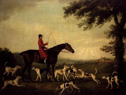 Huntsman with Hounds in a Landscape