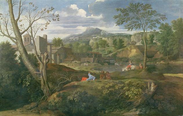 Landscape with buildings, 1648-51
