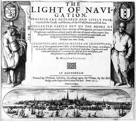 Title Page for 'The Light of Navigation' by William Iohnson, published 1612