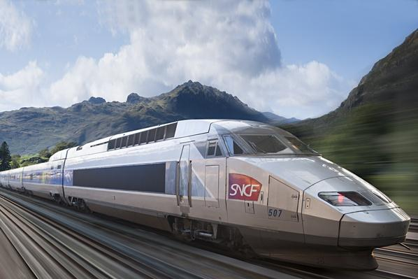 High speed train TGV in countryside | Human Impact on the Physical Environment | Geography
