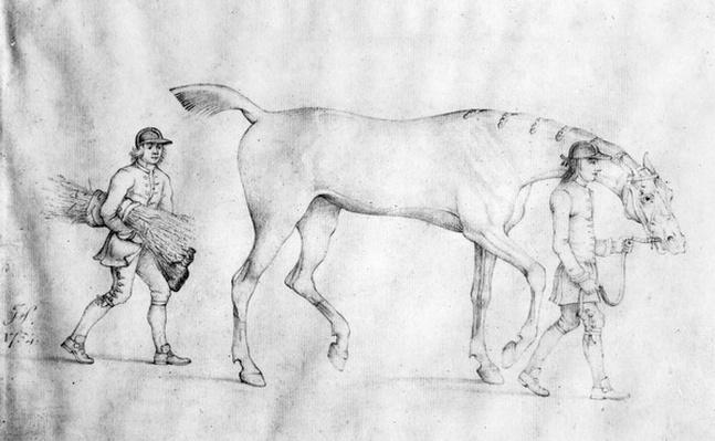 Horse and Grooms, 1754