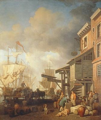 A Thames Wharf, c.1750's