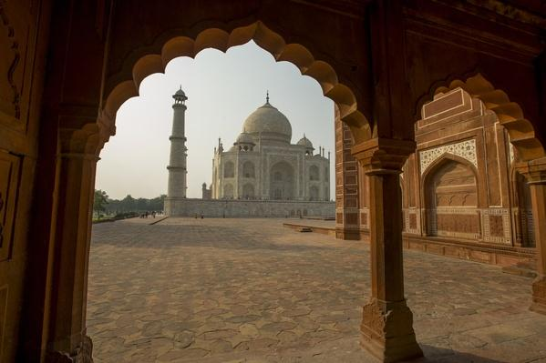 View of the Taj Mahal from the mosque on the west side | Ancient Civilizations