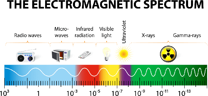 The electromagnetic spectrum vector diagram | Science and Technology