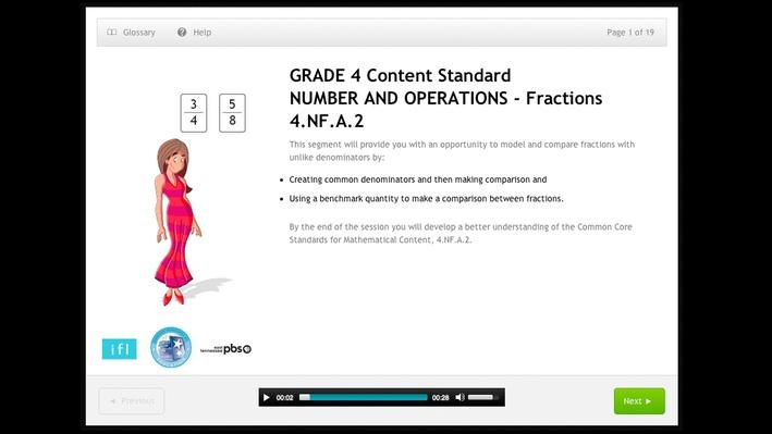 Compare two fractions with different numerators and different denominators - Grade 4 - 4.NF.A.2