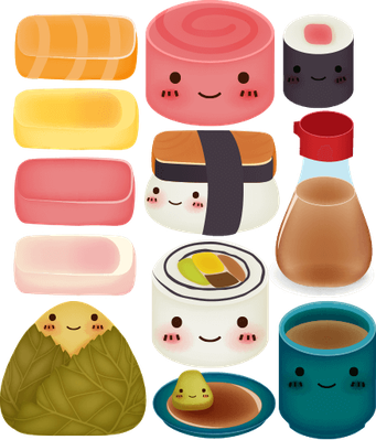 Sushi Collection - Vector File EPS10 | Health and Nutrition
