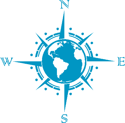 Globe Compass Rose | Clipart