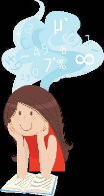 Maths Class Girl | Clipart
