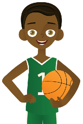 Boy with Basketball | Clipart