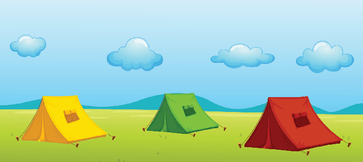 Three Tents | Clipart