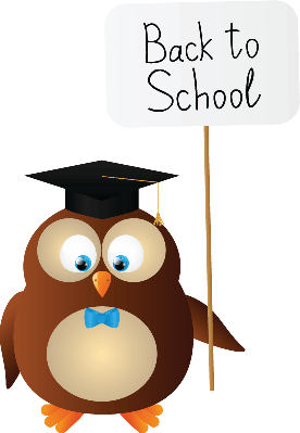 Funny Owl With Paper Card | Clipart