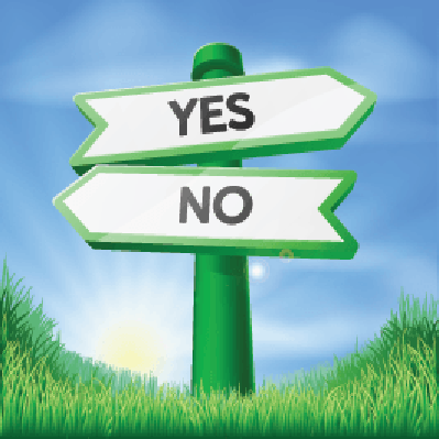Yes or No Sign Concept | Clipart