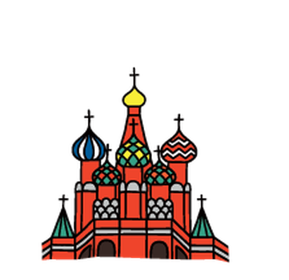 Landmarks - St. Basil's Cathedral | Clipart