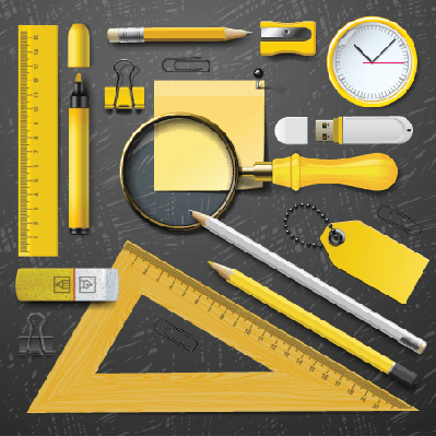 Yellow School Supplies | Clipart