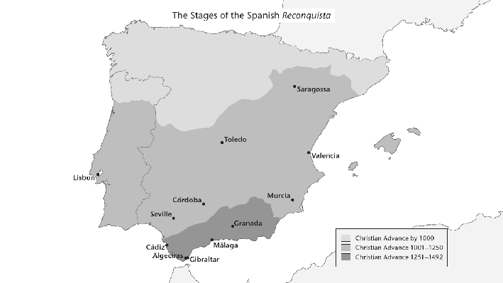 The Stages of the Spanish Reconquista