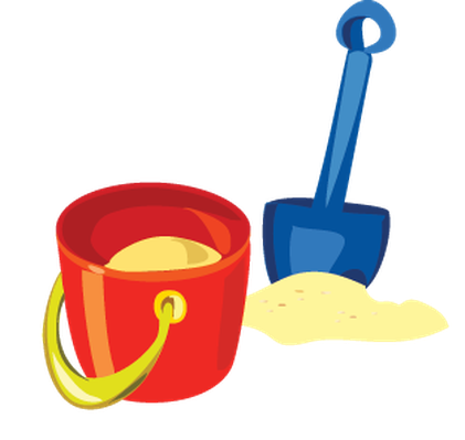 Baby Items on the Beach - Sand Pail and Shovel | Clipart