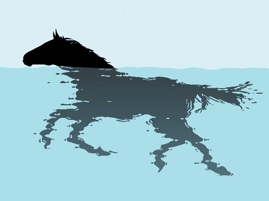Swimming Horse | Clipart